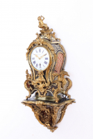 A small French Louis XV Boulle bracket clock, Melot A Paris, circa 1750.