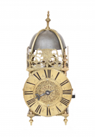 A small French Regence brass lantern clock, G. Pecquet A Paris, circa 1720.