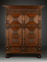 Hollandse Renaissance vierdeurs kolommenkast