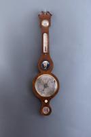 Een Engelse Banjo barometer J. Shetrino Worcester, omstreeks 1830