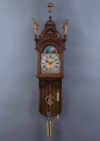 A very rare Amsterdam wall clock, Anthonie van Oostrom, around 1745