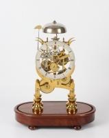 An English brass Lyre-shaped skeleton clock, Dent's, circa 1850