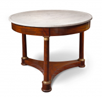Empire round marble top table
