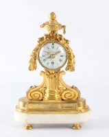 A small French Louis XVI ormolu and marble timepiece, Imbert L'aîné, circa 1765