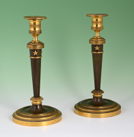 A pair of Directoire candlesticks