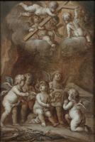 Pieter van Avont, 'Angels taking the Cross to Heaven'