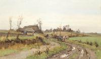 Landschap bij Diever - Adrianus Johannes (Arie) Zwart