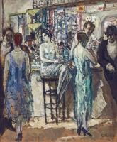 Aan de bar in Maxim's parijs - Jean Louis Marcel Cosson