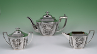 A Chinese silver tea set