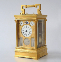 An ingenious French petite sonnerie carriage clock, by Victorien Boseet, Paris 1870-1880.