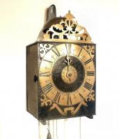 Een vroege Franse comtoise, Mayet klok, circa 1730.