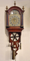 A Dutch Miniature Wall clock, so called 'Staartschippertje' , circa 1840