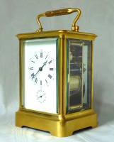 A fine  French carriage clock, gilt case with grande sonnerie, circa 1870.