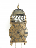 An early mini balance wheel Lantern Clock, alarm, 30 h., England circa 1660.