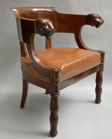 Empire desk chair with lion heads