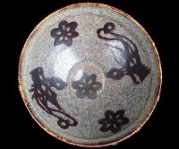 A Jizhou ware bowl with papercut decoration