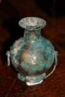 A small silver vase
