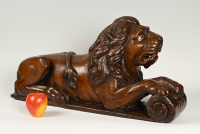 LION,  wooden statue for on the rudder at the stern of a wooden ship.