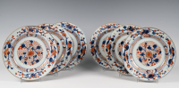 A set of six porcelain Imari dishes