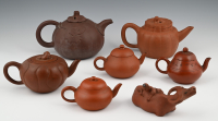 A collection of Chinese Yixing teapots