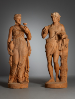 Pair of French Empire Terracotta Sculptures