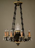 Een bronzen Empire stijl kroon