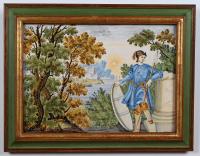 A majolica plaquette, Castelli.