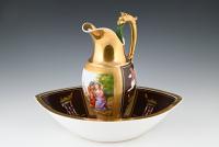 A French Empire jug and basin set