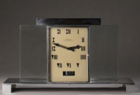 M265 Jean-Léon REUTTER - Atmos clock, in chromed metal and glass slabs