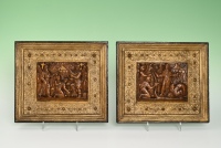 A pair of alabaster reliefs from the Southern Netherlands