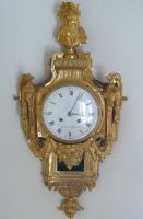 A very fine Louis XVI gilt bronze cartel clock, by Gérard à Ste Menehould, France  circa 1780.