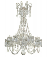 An Empire Crystal 12-Lights Chandelier