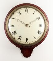 A fine English mahogany dial wall timepiece, circa 1820.