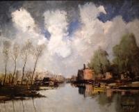 Summer, the river Leie - Belgium