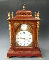 Eardley Norton quarter chiming table clock, original Chinese lacquer painting, circa 1770..