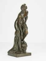Elegant naked bronze statue