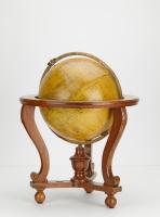 Library earth globe on original