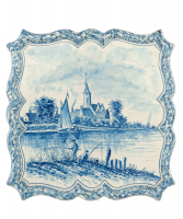 A Dutch Delft Blue and White Square Tray or so-called Cabaret