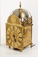 An English brass lantern clock Richard Hindmore London, circa 1730