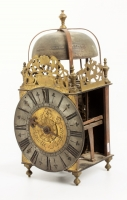 Beautiful big lantern clock signed Roüelle A Bayeux