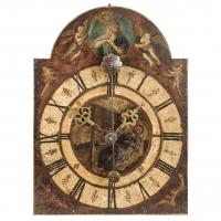 A South-German iron quarter striking chamber clock, circa 1680