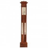 A French rosewood stick barometer, by Vion, circa 1840