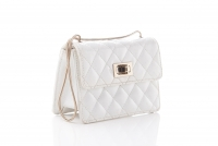 Chanel White Quilted Patent Leather 2.55 Reissue Mini Flap Bag