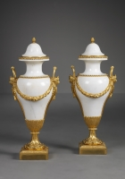 Pair of French Louis XVI Marble Vases