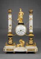 French Portico Clock