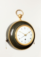 A French Empire patinated bronze wall clock with quarter repeat and alarm, circa 1800