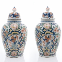 A Pair Dutch Delft Vases