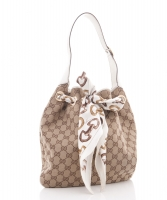Gucci 'Positano' Handtas met Sjaal in Canvas  - Gucci