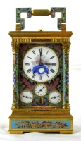 Carriage clock with moonphase