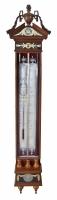 Dutch mahogany Louis Seize barometer with verre églomisé